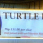Turtle pie and other funny signs